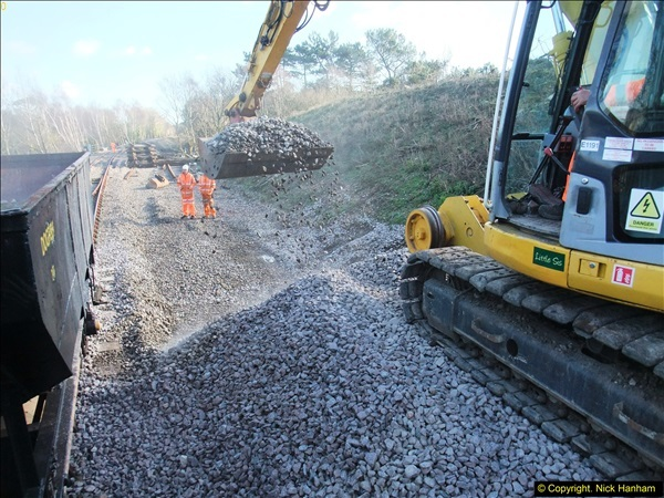2016-02-15 SR Engineering work on the new section for the Wareham link.  (126)202