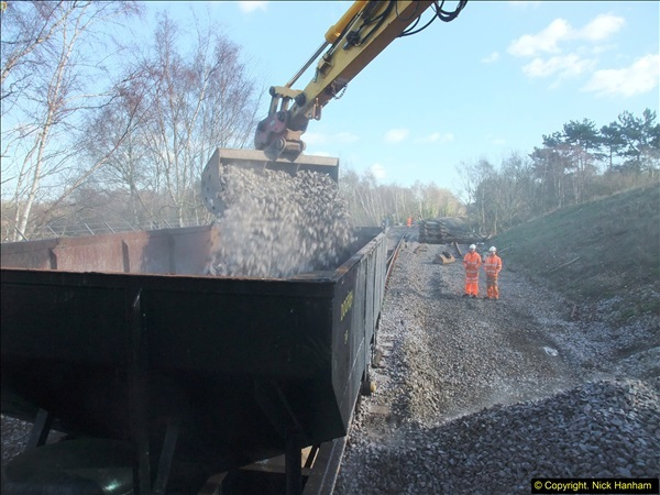 2016-02-15 SR Engineering work on the new section for the Wareham link.  (127)203