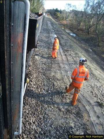 2016-02-15 SR Engineering work on the new section for the Wareham link.  (128)204