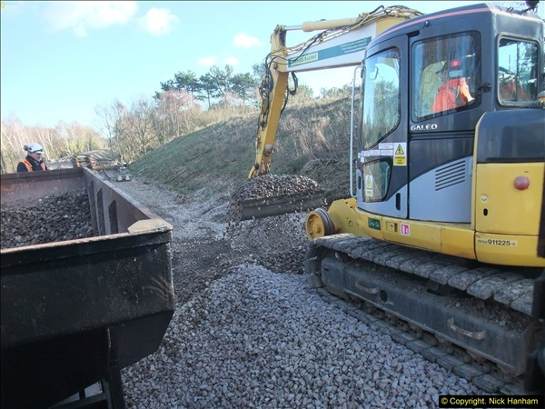2016-02-15 SR Engineering work on the new section for the Wareham link.  (130)206