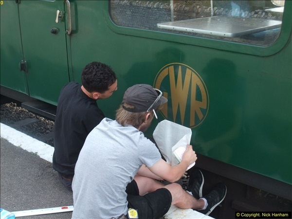 2016-07-21 DMU Turn and Warner Brothers film site set up at Swanage. (40)0321