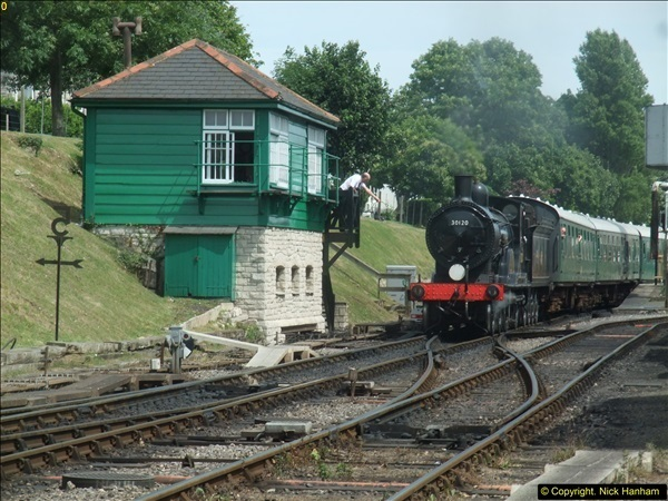 2016-07-21 DMU Turn and Warner Brothers film site set up at Swanage. (51)0332
