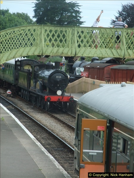2016-07-21 DMU Turn and Warner Brothers film site set up at Swanage. (73)0354