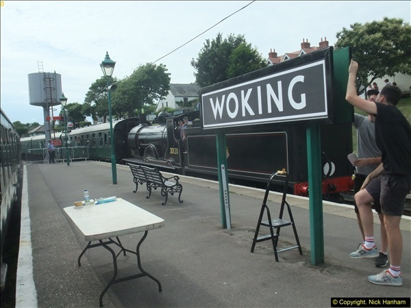 2016-07-21 DMU Turn and Warner Brothers film site set up at Swanage. (89)0370