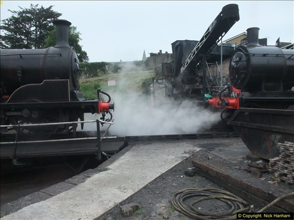 2016-07-21 DMU Turn and Warner Brothers film site set up at Swanage. (94)0375