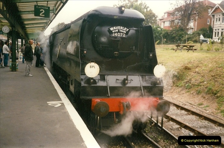 1996-09-22 Your Host driving the Waverley Boat Train.  (5)0372