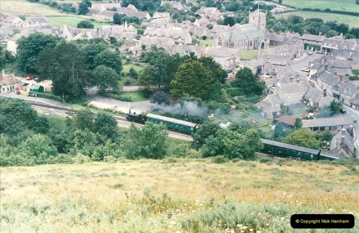 1998-08-01 Above Corfe Castle.  (2)0708