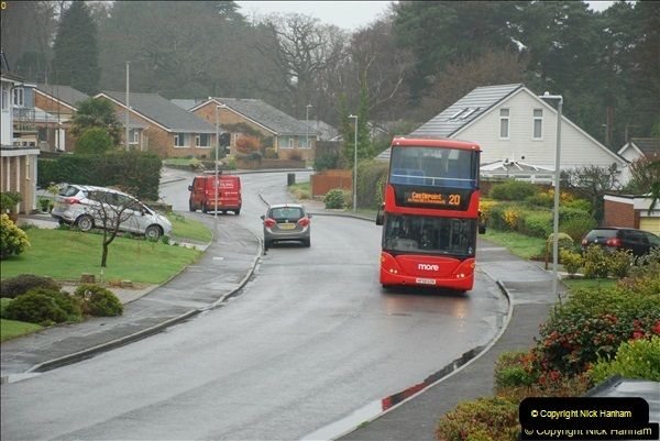 2018-04-09 First day of operation of the Route 20 by Wilts & Dorset.  (19)019