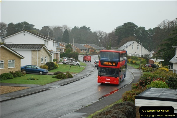 2018-04-09 First day of operation of the Route 20 by Wilts & Dorset.  (21)021