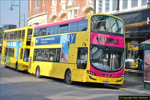 2018-02-23 Bournemouth Square and NEW W&D buses.  (1)001