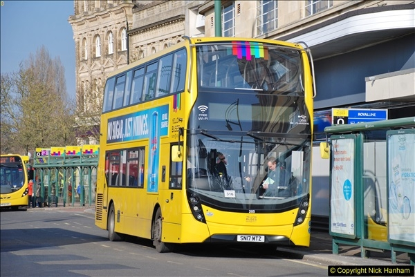 2018-02-23 Bournemouth Square and NEW W&D buses.  (3)003