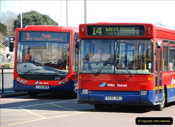 2012-03-21 Buses in Poole, Dorset.  (110)228