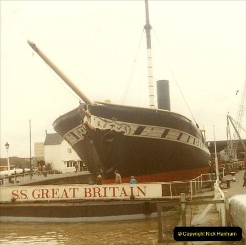 1980 May. The SS Great Britain @ Bristol.  (2)047