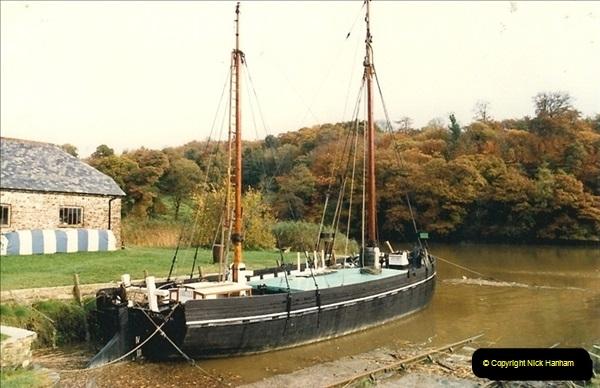 1986-10-29. Cothele Quay, Devon.145