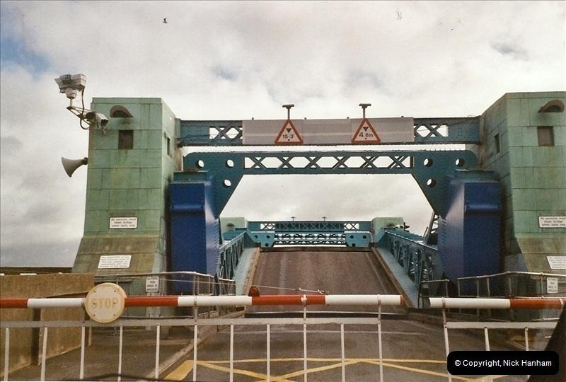 2004-05-13. Poole Bridge, Dorset.  Being Raised.  (3)464464
