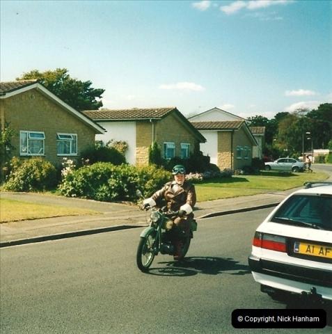 2004-06-29 Your Host riding his BSA Bantam 125cc Motor Cycle. Parkstone, poole, Dorset.  (2)539539