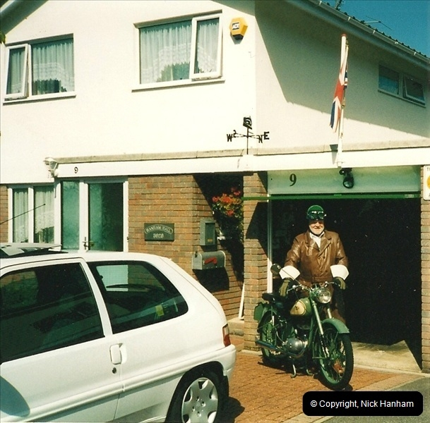 2004-06-29 Your Host riding his BSA Bantam 125cc Motor Cycle. Parkstone, poole, Dorset.  (3)540540
