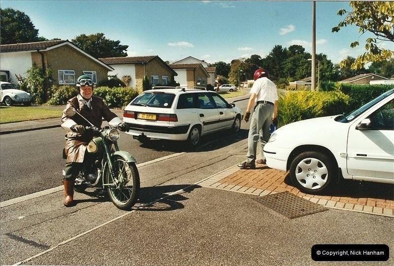 2004-06-29 Your Host riding his BSA Bantam 125cc Motor Cycle. Parkstone, poole, Dorset.  (4)541541