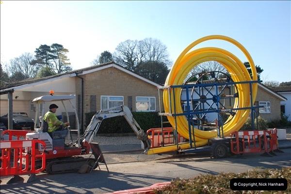 2012-02-20 Gas pipe renewal work. Poole, Dorset.  (5)049