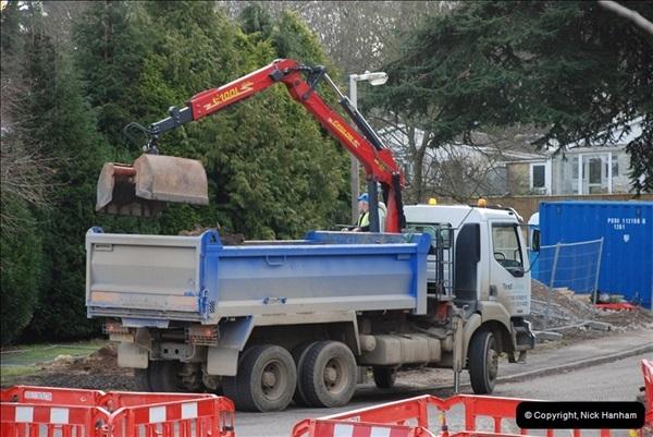 2012-02-20 Gas pipe renewal work. Poole, Dorset.  (10)054