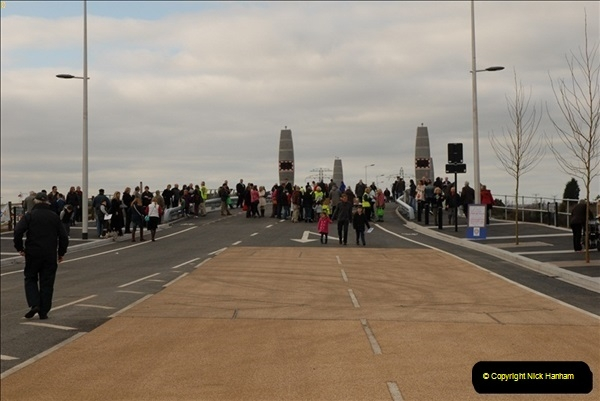 2012-02-25 Poole Twin Sails Bridge first day open to the public. (No Vehicles) (4)059