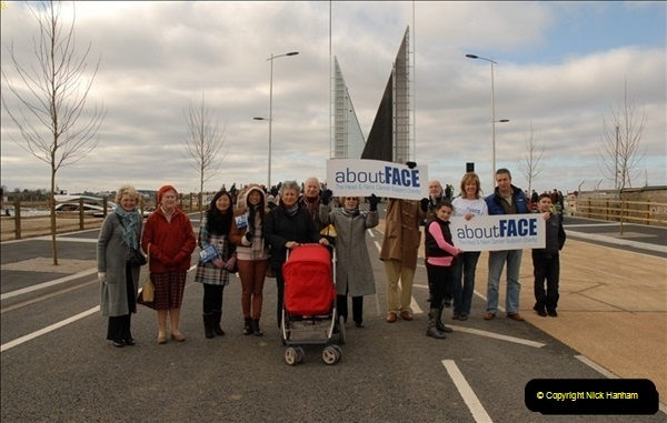 2012-02-25 Poole Twin Sails Bridge first day open to the public. (No Vehicles) (33)088