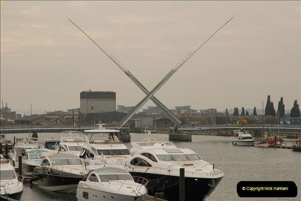2012-02-29 Poole New Twin Sails Bridge  and Old Lifting Bridge.  (1)141