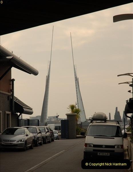 2012-02-29 Poole New Twin Sails Bridge  and Old Lifting Bridge.  (3)143