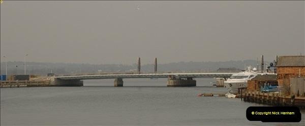 2012-02-29 Poole New Twin Sails Bridge  and Old Lifting Bridge.  (5)145
