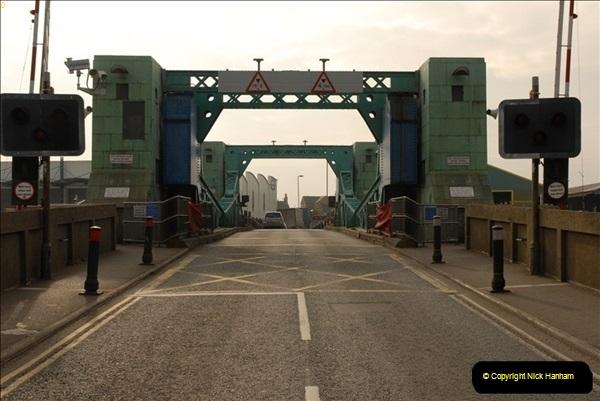 2012-02-29 Poole New Twin Sails Bridge  and Old Lifting Bridge.  (33)173
