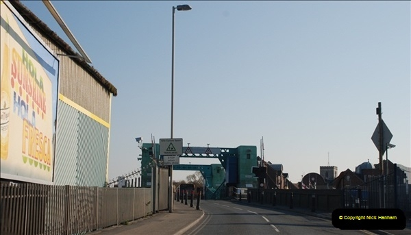 2012-04-06 Travelling over Poole Twin Sales New Bridge & the Old Bridge.  (19)317