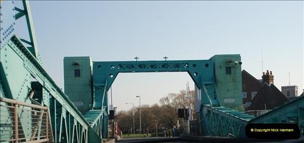 2012-04-06 Travelling over Poole Twin Sales New Bridge & the Old Bridge.  (22)320