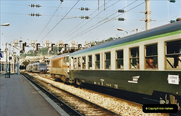 May 2001 France & Corsica. (360) Nice, Lille France & London Waterloo.  359