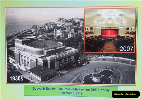 2019 March 16 Bournemouth Pavilion Theatre 90 Years. (6) 006