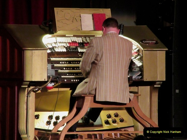 2019 March 16 Bournemouth Pavilion Theatre 90 Years. (42) The Compton Organ in action. 042