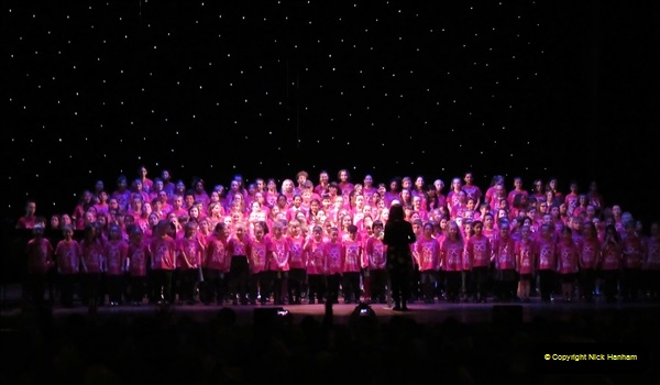 2019 March 16 Bournemouth Pavilion Theatre 90 Years. (47) Local school choirs. 047
