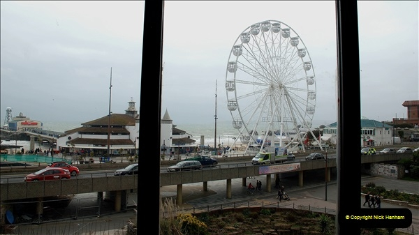 2019 March 16 Bournemouth Pavilion Theatre 90 Years. (68) Behind the scenes tour. A look outside from the Ballroom. 068