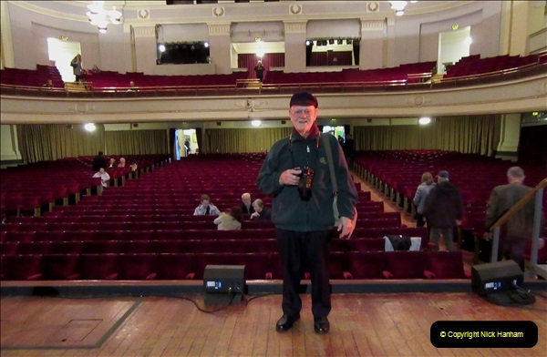 2019 March 16 Bournemouth Pavilion Theatre 90 Years. (86) Behind the scenes tour. Your Host. 086