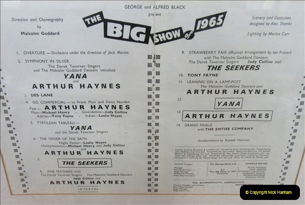 2019 March 16 Bournemouth Pavillion Theatre 90 Years. (124) The Shows and the Stars. 124