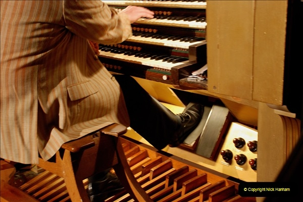 2019 March 16 Bournemouth Pavilion Theatre 90 Years. (9) Behind the scenes tour. The Compton Organ. 09