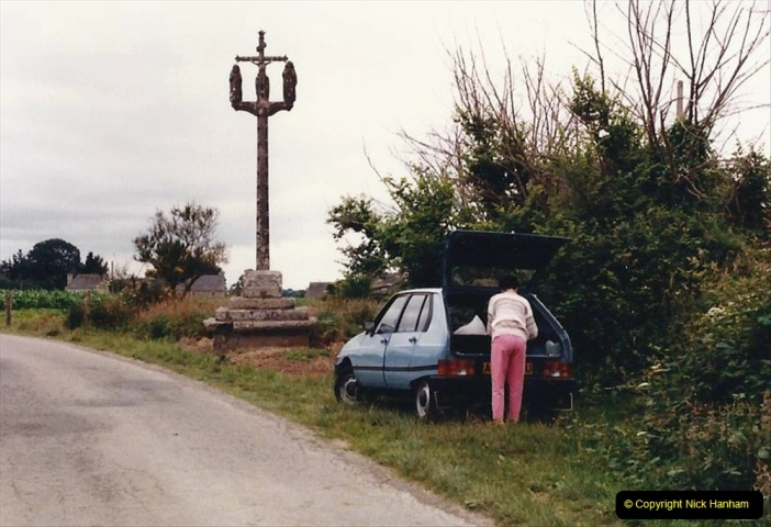 1986 Brittany, France. (96) Roadside Calvary.096