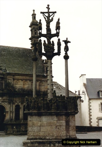 1986 Brittany, France. (101) Three parish closes St.Thegonnec - Guimiliau - Lampaul. 101