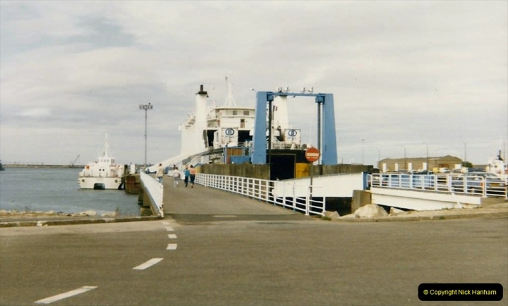 1986 Brittany, France. (108) Cherbourg for Poole.108