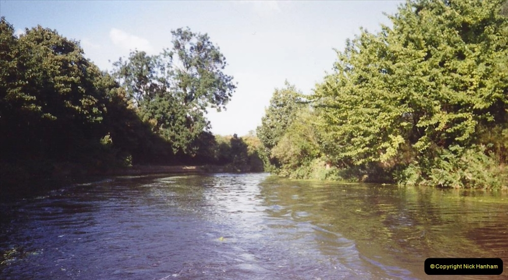 1989 A boat ride on the River Lee at Broxborne, Hertfordshire. (3)