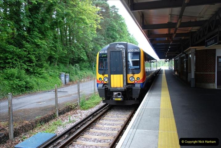 2019-06-02 MBF Meeting on the IOW. (21) Brockenhurst. The Lymington branch train. 022