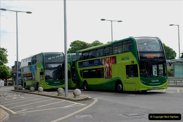 2019-06-02 MBF Meeting on the IOW. (52) Three different buses to get to the Ryde Bus Museun for the meeting. 053