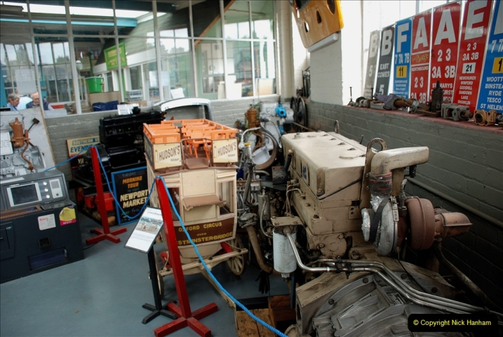 2019-06-02 MBF Meeting on the IOW. (160) The IOW Ryde Bus Museum bus engines display. 161