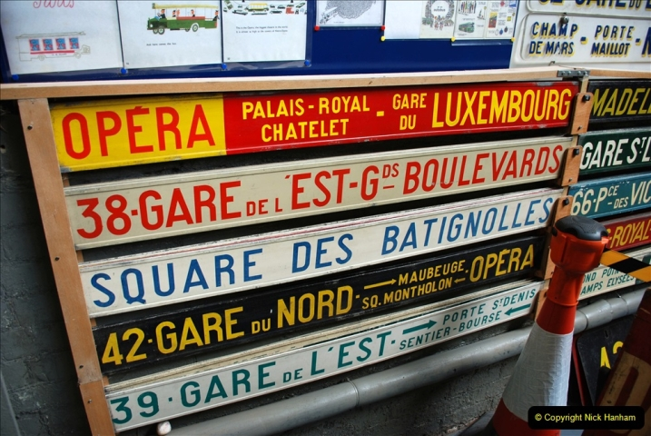 2019-06-02 MBF Meeting on the IOW. (178) The IOW Ryde Bus Museum. Paris bus and other Paris bus items. 179