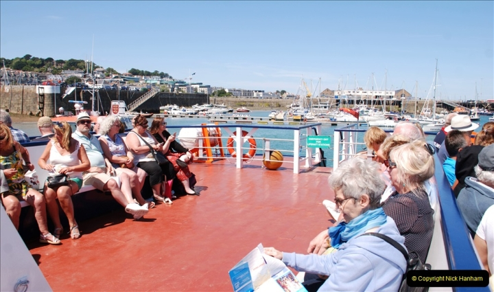 2019 June 28 to 05 July P&O MV Oriana France, Spain and Guernsey. (194) Guernsey CI. Tender back to our ship. 194