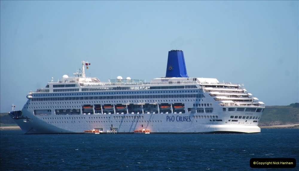 2019 June 28 to 05 July P&O MV Oriana France, Spain and Guernsey. (207) Guernsey CI. Tender back to our ship. 207